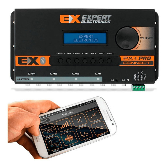 Crossover Expert Px1 Connect Bluetooth Processador Digital