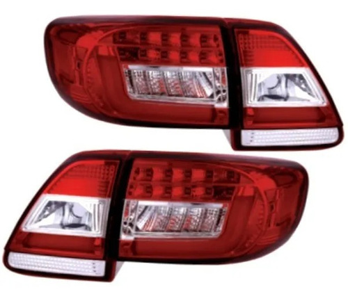 Lanterna Led Toyota Corolla 2012 A 2014 Cristal Red