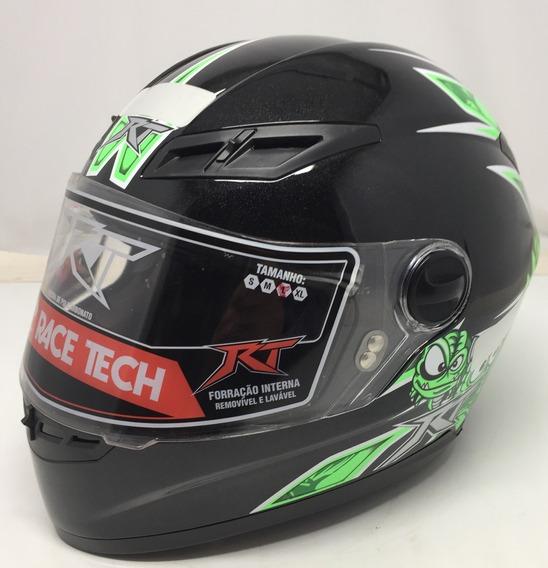 Capacete Race Tech Rt501 Tam.l Viseira Com Proteção Uv