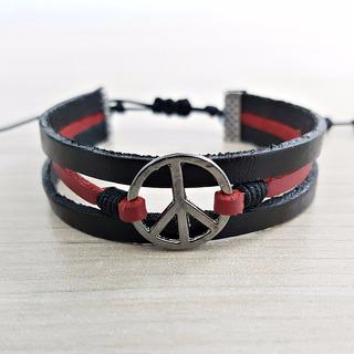Pulseira Feminina Bracelete Feminino Hippie Simbolo Da Paz