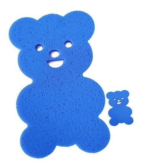 Espuma Anti Derrapante Banho Azul Urso Baby Bebê Ep01