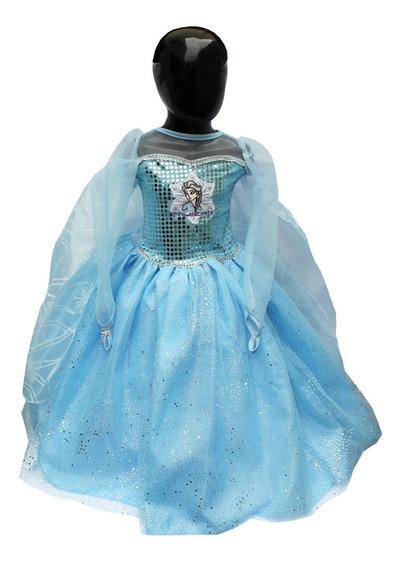 Disfraz Elsa Frozen 2 Vestido Con Capa Y Bordado Frozen Ii