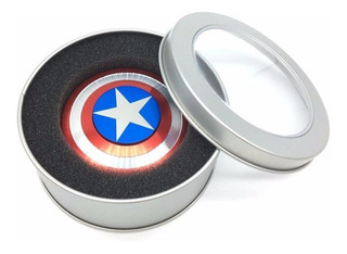 Fidget Spinner Escudo Capitán América Aluminio Envío Gratis