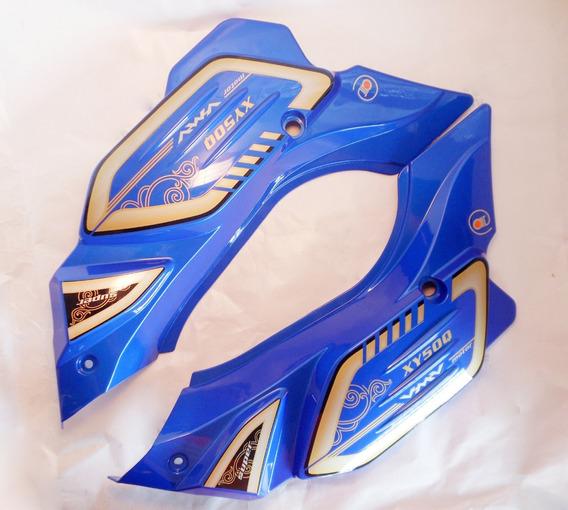 Tampas Laterais (par) Azul Da Shineray 50 Super Smart