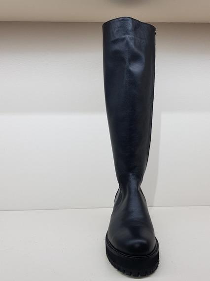 Bota Caña Alta Negra Justa Osadia Zapato Mujer