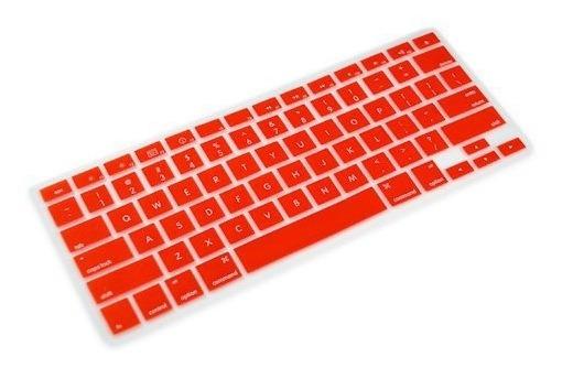 Protetor Teclado Silicone Vermelho Macbook 13 15 17 Air 13