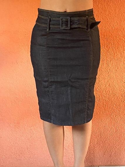 Saia Jeans Tipo Secretária, Marca Tom Tailor, Tamanho 36