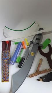 Lote 2 Resorteras Espada Flechas Linterna Etc Para Niños