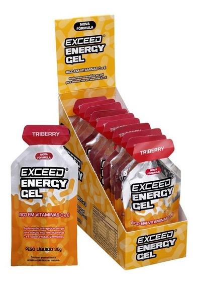 Exceed Energy Gel Triberry Display C/ 10 Sachês De 30g Cada