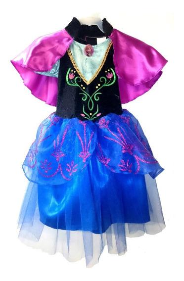 Disfraz Anna Frozen Disney Original Niña Vestido Fantasy Ruz