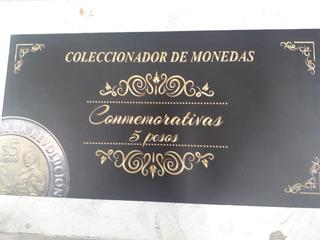 Album Lleno Monedas De 5 Pesos 37 Piezas
