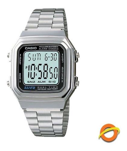 Reloj Casio A-178wa Digital Acero Inoxidable Hora Doble
