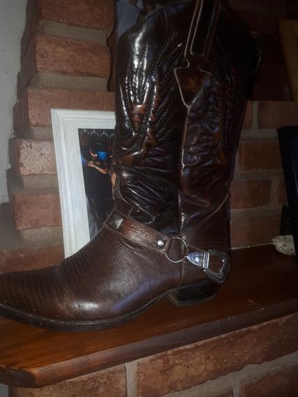 Botas Estilo Texano 100% Cuero