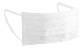 Barbijo Doble Capa Con Elastico Pack 50 Unid Stock Inmediato