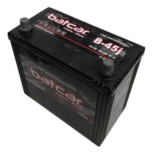 Imagen 1 de 8 de Bateria Batcar 12x45 B45j Auto Asiático Libre Mantenimiento