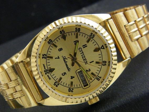 Reloj De Pulsera Automático Citizen Chapa De Oro Japónes