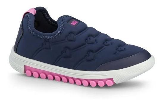 Tênis Infantil Bibi Feminino Azul Marinho Roller New