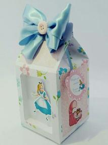 50 Caixas Personalizadas Tema Alice No Pais Das Maravilhas