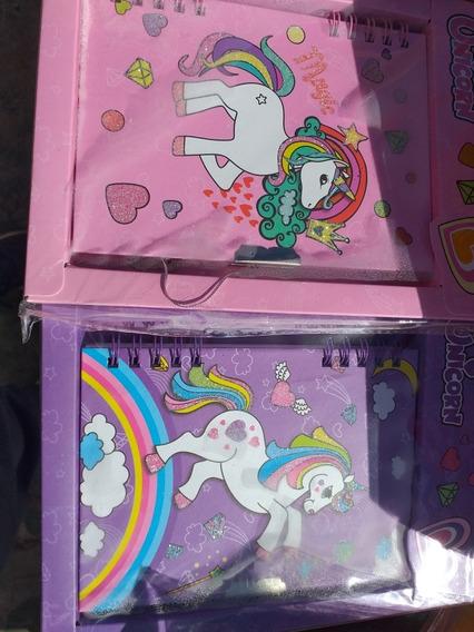 Agendas/diario Intimo Unicornio/ Pony// Regalos/souvenirs