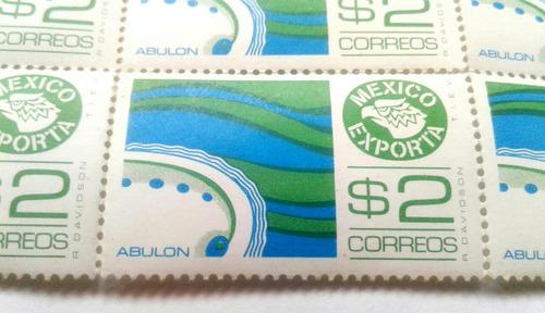 Imagen 1 de 3 de Timbres Postales México Exporta Abulon
