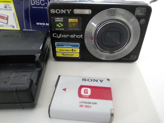 Câmera Digital Sony Cyber-shot Dsc-w125 + Cartão De Memória
