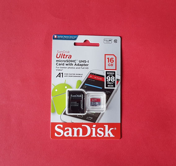 5 Cartões Micro Sd Ultra 16g - Sandisk