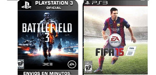 Battlefield 3 Ps3 Combo Con Fifa 15 Obsequio Digital Ps3