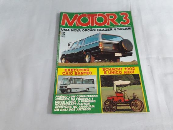 Revista Motor 3 Nº 73 - Julho 1986 Blazer/citroen/chico Land