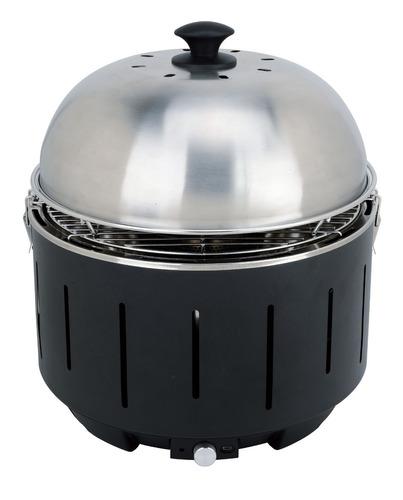 Parrilla Portátil Con Tapa Carbón Casi Sin Humo Ideal Dpto