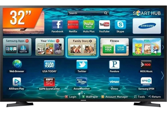 Smart Tv Led 32 Samsung Hd Hdmi Usb Wi-fi Lh32