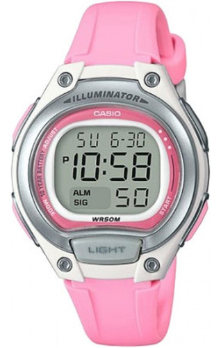 Relógio Casio Feminino Digital Rosa Original 1 Ano Garantia