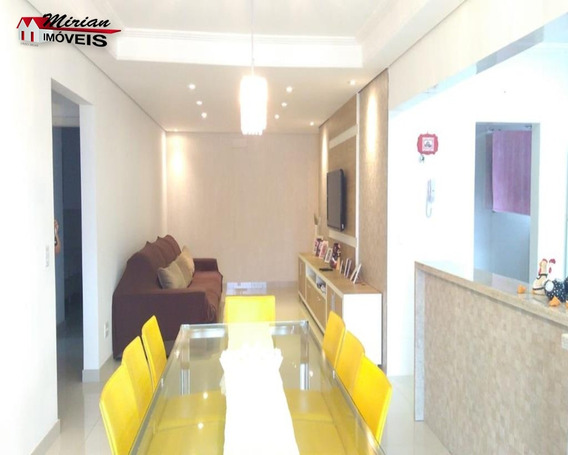 Belo Apartamento Novo No Centro De Peruíbe 3 Dormitórios Sendo 1 Suíte ,sala 2 Ambientes ,wc Social Cozinha,lavandeira E Varanda Gourmet Com Churrasqueira Bom Gosto Sofisticação Co - Ap00130 - 331324