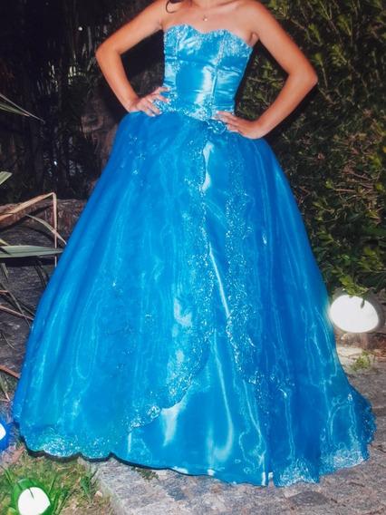 Vestido De 15 Años, Color Turquesa