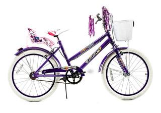 Bicicleta Halley Paseo 19075 Rodado 20 Nena Niña Dama Gmstor