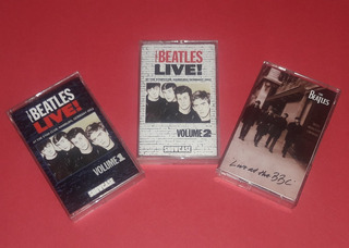 Pack The Beatles Live , 3 Cassettes Ingleses