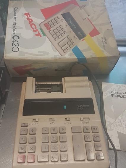 Calculadora Facit C420, Usada E Antiga .