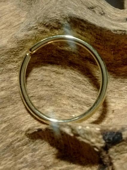 Piercing Argola Lisa 1,2x12mm Ouro18k Joalheria Artesanal