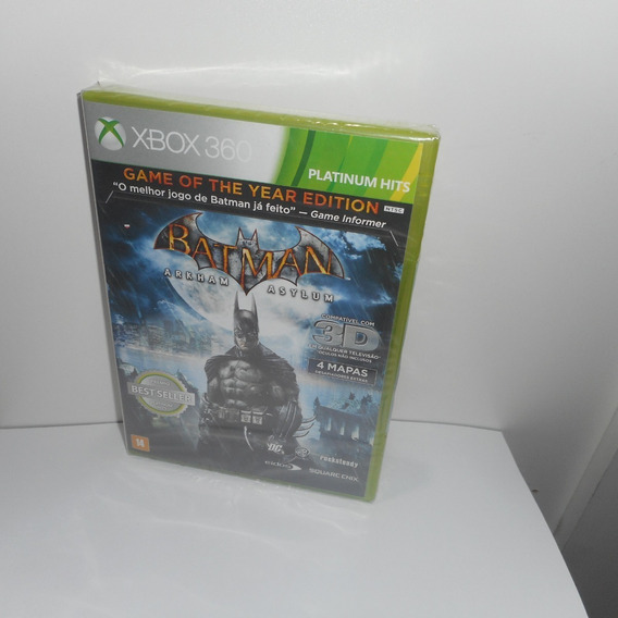 Batman Arkham Asylum Game Of The Year Edition Xbox 360 Novo