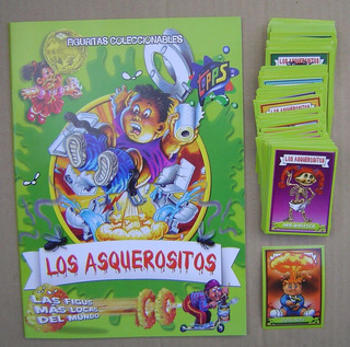 Asquerositos Coleccion Figuritas Completa Sin Album Basurita