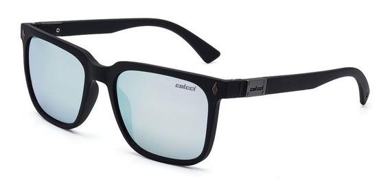 Oculos Sol Colcci Ark C0081a1480 Preto Fosco Prata Espelhada