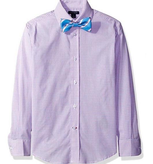 Camisa Formal Tommy Hilfiger Niño Con Moño Original Talla 12
