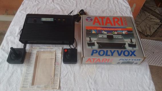 Atari 2600 Polyvox - Completo C/ Caixa Serial Batendo