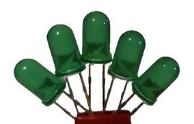 Kit Led 5mm Verde Difuso Com 25 Pçs