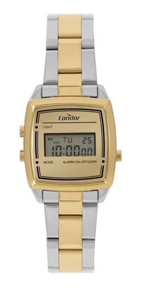 Relógio Feminino Condor Digital Cojh512aa/5d - Dourado/prata