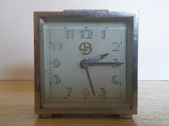 Reloj Antiguo Propaganda Cigarrillos 43, Bronce, A Reparar