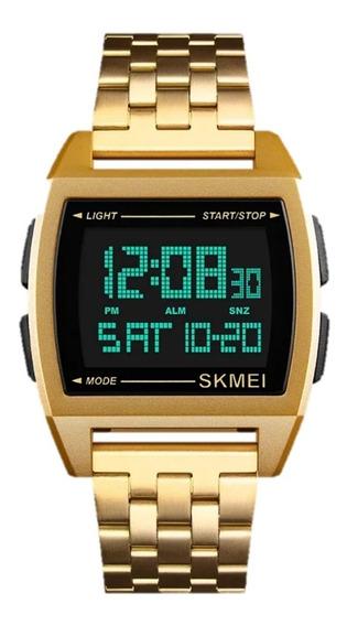Relógio Skmei 1368 Masculino Casual Esportivo Dourado