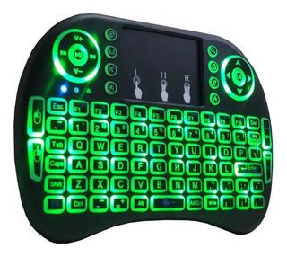 Mini Teclado Keyboard Sem Fio Wireless Iluminado C/ Led Tv