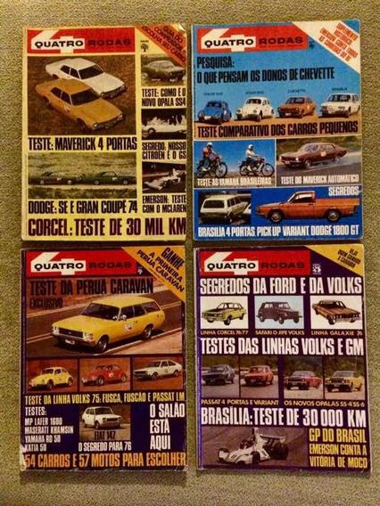 Revista Antiga Quatro Rodas (5 Edições)