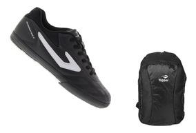 Kit Tênis Futsal Topper Dominator 3 + Brinde Mochila Topper