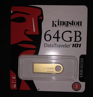 Flash Memoria Pendrive Kingston 64 Gb